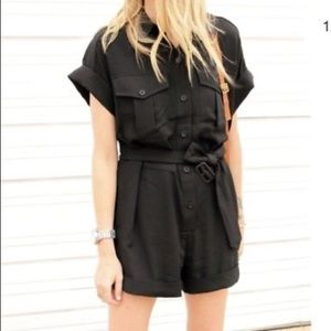 Banana Republic Black Safari Romper
